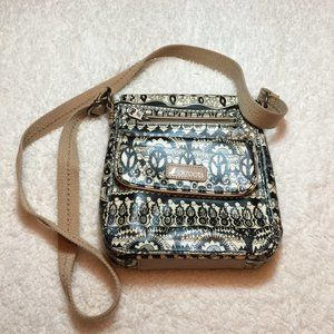 Like New Sakroots Black Cream Crossbody